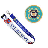 U.S. Coast Guard Pin and Lanyard Set