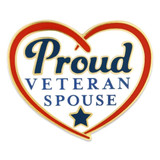 Proud Veteran Spouse Pin