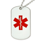 Medical Alert Dog Tag - Engravable