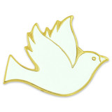 White Dove Pin Magnetic Back