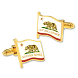 California Flag Cufflink Set