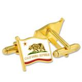 California Flag Cufflink Set