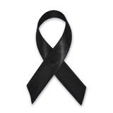 Cloth Awareness Ribbon - 25 Pack - Black