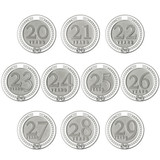 Years of Service Pin - 20-29 Years - White