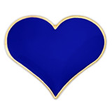 Blue Heart Lapel Pin