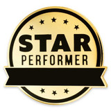 Engravable Star Performer Pin