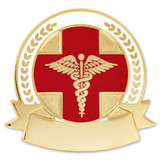 Engravable Caduceus Pin
