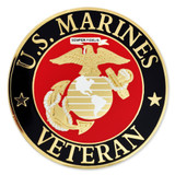 Officially Licensed U.S. Marine Corps Veteran Pin