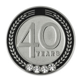 Years of Service Pin - 40 Years Black