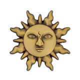 Antique Gold Sun Lapel Pin