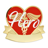 Engravable Caduceus Hero Pin