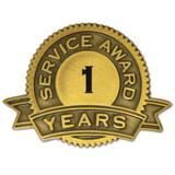 Service Award Pins 1-35 Years
