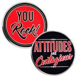 Attitudes Are Contagious Coin