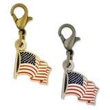 Waving American Flag Charm