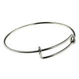 Bangle Charm Bracelet -  Silver