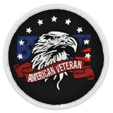Round American Veteran Patch