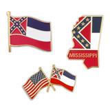 Historical Mississippi Pin Set