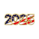 2025 Patriotic Year Pin