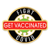 Fight COVID Get Vaccinated Pin
