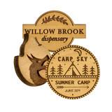 Custom Wood Lapel Pin
