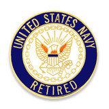 Officially Licensed U.S. Navy Retired Pin