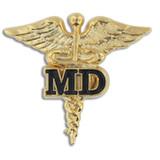 MD Caduceus Lapel Pin