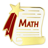 Math Scroll Pin