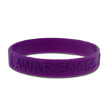 Rubber Awareness Bracelet - Purple