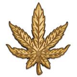 Marijuana Leaf Wood Pin