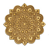 Spiritual Mandala Wood Pin