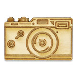 Classic Camera Wood Pin