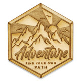 Find Your Own Path Wood Pin