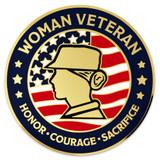 Female Veteran Coin - Engravable