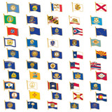 50 State FLAG Pins Collection