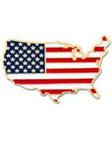 United States Shape Flag Lapel Pin