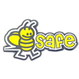 Bee Safe Pin