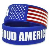 Proud American Rubber Bracelet 1 Inch Wide