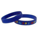 Autism Awareness Rubber Bracelet - Debossed - BOGO