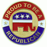 Proud To Be A Republican Pin