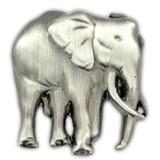 Elephant Pin - Antique Silver