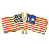 USA and Malaysia Flag Pin