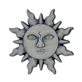 Antique Silver Sun Lapel Pin