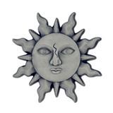 Antique Silver Sun Lapel Pin
