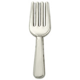 Culinary Fork Lapel Pin - Silver