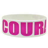 COURAGE Rubber Bracelet 1 Inch Wide