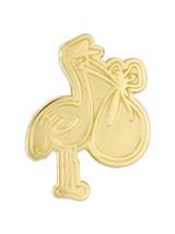 Gold Stork Pin
