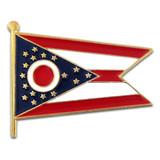 Ohio State Burgee Flag Pin