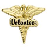 Volunteer Caduceus Lapel Pin