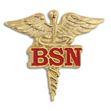 BSN Caduceus Lapel Pin