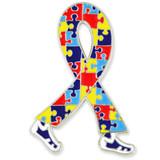Walking Autism Ribbon Pin